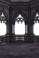 RESTRICTED - Dark Gothic Balcony 02 by frozenstocks