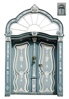 UNRESTRICTED - Blue Ornate Door by frozenstocks