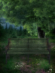 UNRESTRICTED - Forest Bench BG by frozenstocks