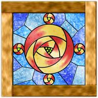 Rose Window 1 by WearManyHats