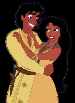 Disney x GoT - Oberyn and Ellaria by Qemma