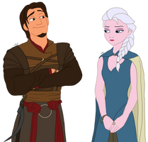 Disney x GoT - Daenerys and Daario by Qemma