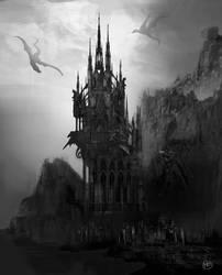 Gothic castle by MarinaOrtega