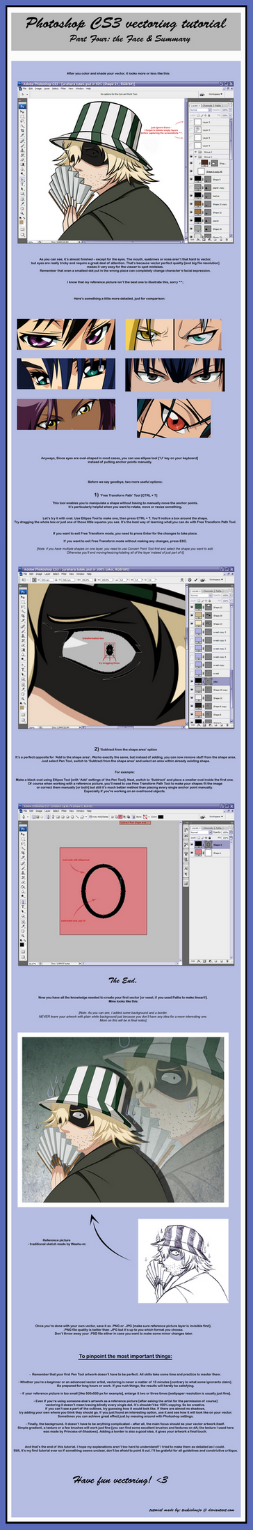 Vector Tutorial - Eyes and... by tsukishoujo