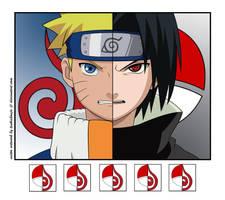 Naruto vs Sasuke by tsukishoujo