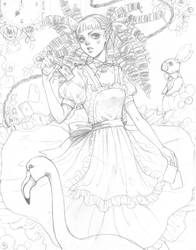 Commission WIP: Sketch Alice by Dar-chan