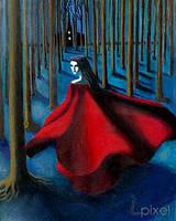 Scarlet in moonlight by Lpixel