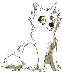Commission - Kiba-White-Fang 5 by Hukkadaddy