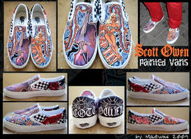 Scott Owen's painted Vans by MadTwinsArt