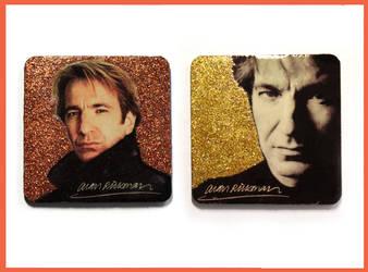 Alan Rickman memory magnet by MadTwinsArt