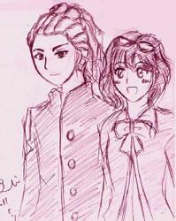 Kido and Haruna by sawara737