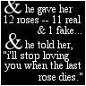 and he gave her twelve roses.. by GirlInteruppted