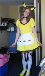 Pikachu Maid at AWA 1 by SailorEarth316
