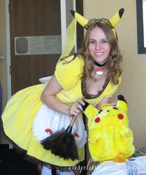 Pikachu Maid at AWA 3 by SailorEarth316
