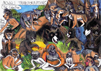 Jungle Book - Mowgli Transformations by Khialat