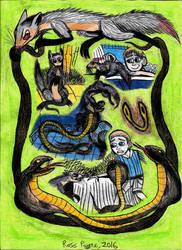 Jungle Book - Nag and Nagaina by Khialat