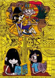 Loud House - Pharaoh Fantasy by Khialat