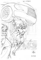 Ultra Vixen  by Jed Dougherty by MaelstromMediaComics