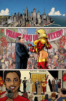 UltraVixen Preview book Page One by MaelstromMediaComics