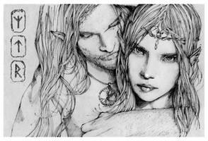 Jurre and Merem by grafnarq
