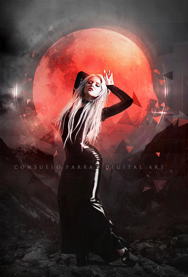 Bloody moon by Consuelo-Parra