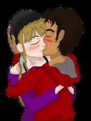 Beso enamorado by 1raruto2