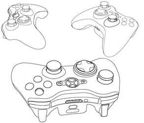 Xbox Controller Outline by WKJonesnet
