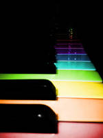 Colourfull Piano Keys by Meret-Alexandra