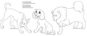 . Free doggies linearts . by Arukardis