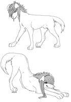 Teen Scenedogs Linearts by Arukardis