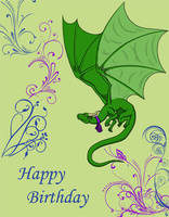 Birthday Dragon by icedragonair