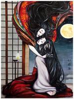 Lady Rokujo and Lady Aoi by ZhaoLuna