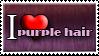 I Love Purple Hair by Zimmette-Stock