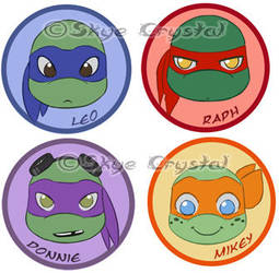 .: TMNT - Badges :. by xSkyeCrystalx