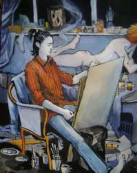 Daisy on the table by JuliuszLewandowski