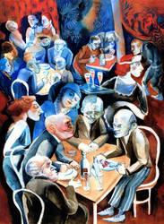 The busy waitress by JuliuszLewandowski