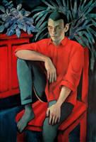 boy in red shirt by JuliuszLewandowski