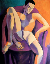 violet and orange nude by JuliuszLewandowski