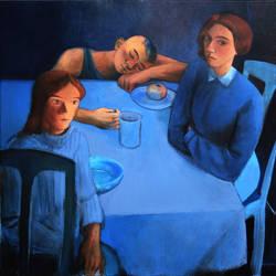 at the table by JuliuszLewandowski