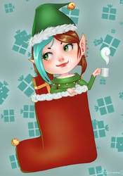 Christmas Chibi by GlassLotuses