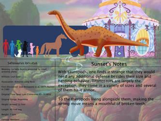 The Land Before Time Species Chart 47: Saltasaurus by jongoji245