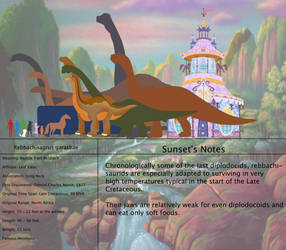 The Land Before Time Species Chart 51: Rebbachi by jongoji245
