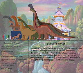 The Land Before Time Species Chart 52: Supersaurus by jongoji245