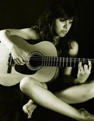 playing the guitar by umbrellasgirl