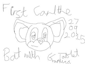 Carl the Bat first graphics tablet work by venom9999