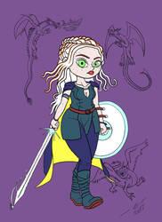 2017 08 09 Daenerys Targaryen Game of Thrones by CameronNielsen