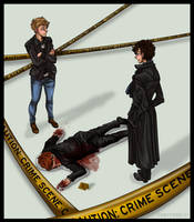 Commission38: Red-Headed Crime Scene by Cobyfrog