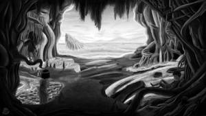 Matte painting BW by NnekArt