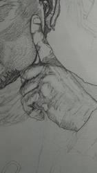 Hand Progress by Valoushka