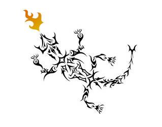 Fire Gecko Tattoo by Cerno-b